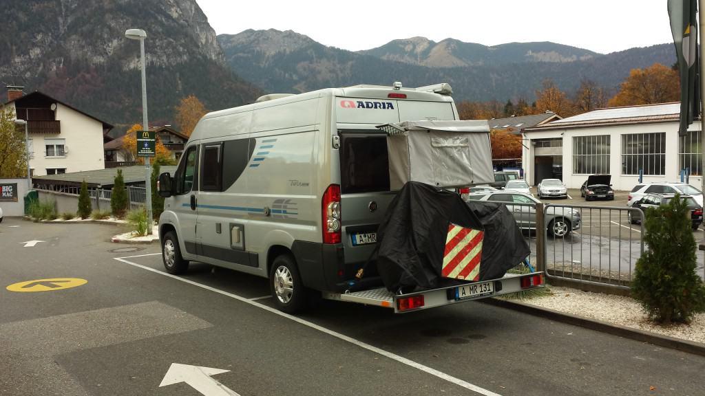 Fiedler Motorradbühne auf dem Weg nach Italien