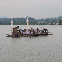 Flossfahrt auf dem Lechsee